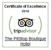 ThePitstop Hotel Certificate of Excellence 2016 Stansted Airport Hotel